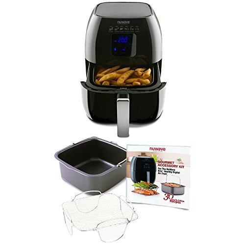 Nuwave-Brio-Digital-Air-Fryer-3-Quart-Capacity-Reversible-Rack-Baking-Pan-Recipe-Book-Included-0