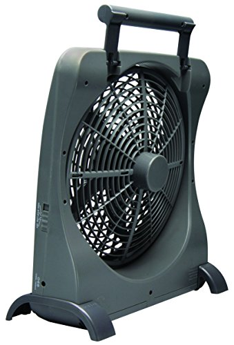 O2COOL-10-Inch-Portable-Smart-Power-Fan-with-AC-Adapter-USB-Charging-Port-0-0