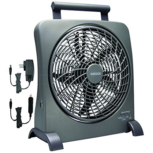 O2COOL-10-Inch-Portable-Smart-Power-Fan-with-AC-Adapter-USB-Charging-Port-0-1