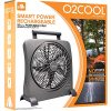 O2COOL-10-Inch-Portable-Smart-Power-Fan-with-AC-Adapter-USB-Charging-Port-0-2