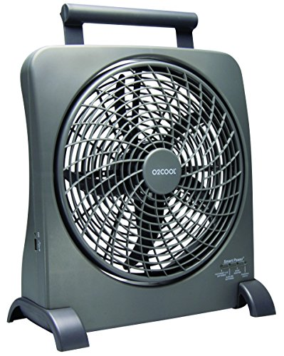 O2COOL-10-Inch-Portable-Smart-Power-Fan-with-AC-Adapter-USB-Charging-Port-0