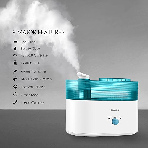 OPOLAR-Top-Fill-Humidifier-1-Gallon-Large-Capacity-Ultrasonic-Cool-Mist-Easy-Clean-Essential-Oil-Container-Permanent-Air-and-Water-Filter-300mLH-Output-Ultra-Quiet-for-Bedroom-Baby-Room-0-1