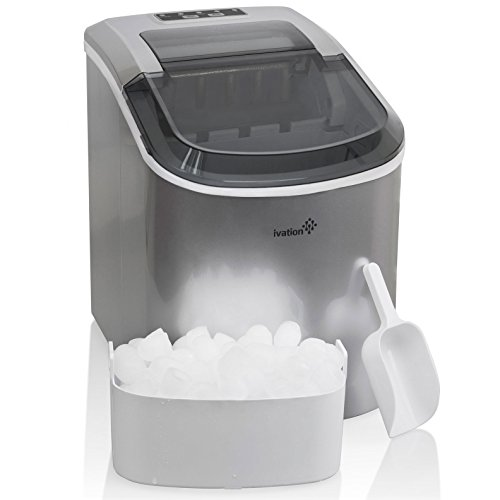 Portable-Ice-Maker-for-Counterop-Sleek-Tinted-Clear-Top-Window-Design-2-Selectable-Cube-Sizes-Yield-Up-To-265-Pounds-of-Ice-Daily-0-0