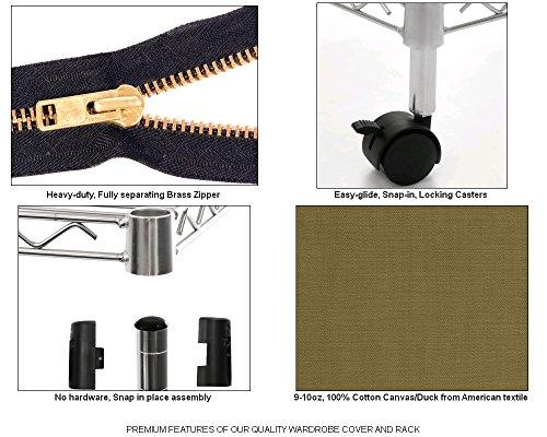 Portable-Wardrobe-Closet-w-Premium-Cotton-CanvasDuck-Cover-72-75Hx36Wx18D-0-0