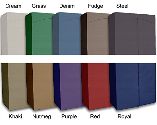 Portable-Wardrobe-Closet-w-Premium-Cotton-CanvasDuck-Cover-72-75Hx36Wx18D-0-2