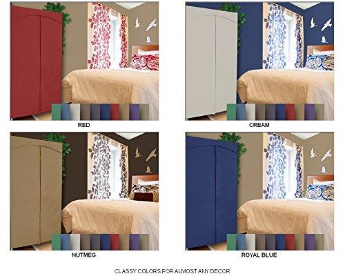Portable-Wardrobe-Closet-w-Premium-Cotton-CanvasDuck-Cover-72-75Hx36Wx18D-0