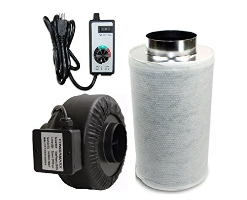 Powermaxx-Premium-Charcoal-Carbon-Filter-and-Inline-Fan-Combo-with-Speed-Controller-0