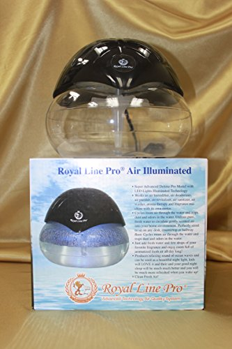 Royal-Line-Pro-R-Deluxe-Illuminated-LARGEST-SIZE-Air-Purifier-Humidifier-Revitalizer-Cleaner-Fragrance-Dispenser-Aroma-Therapy-Machine-Beautiful-BLACK-with-LED-Lights-Pro-Model-Largest-Size-in-its-cla-0
