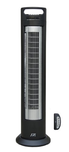 SPT-SF-1523-Reclinable-Tower-Fan-with-Ionizer-Black-and-Silver-0
