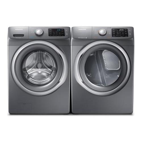 Samsung-Appliance-Stainless-Platinum-Front-Load-Laundry-Pair-with-WF42H5200AP-27-Washer-and-DV42H5200EP-27-Electric-Dryer-0-0