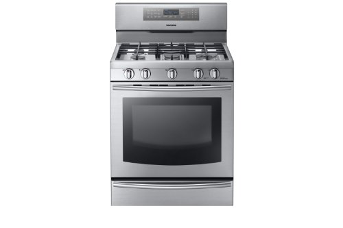 Samsung-NX58F5700WS-Stainless-Steel-Gas-Range-with-True-Convection-0