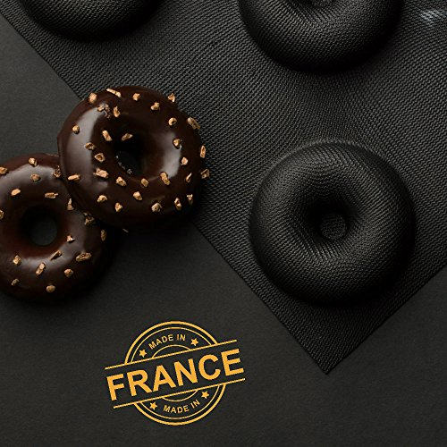 Sasa-Demarle-Professional-Silicone-FLEXIPAN-Donut-Pan-Mold-8-Cavity–35-Depth118-Mold-Size-122-x-173-fits-a-Half-Sheet-Pan-13×18-FP5587-0-0