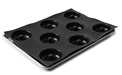 Sasa-Demarle-Professional-Silicone-FLEXIPAN-Donut-Pan-Mold-8-Cavity–35-Depth118-Mold-Size-122-x-173-fits-a-Half-Sheet-Pan-13×18-FP5587-0