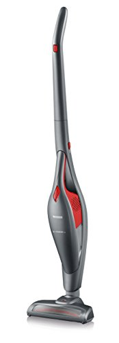 Severin-2-in-1-Cordless-Rechargeable-Upright-Stick-with-Detachable-Handheld-Vacuum-Cleaner-Includes-Brush-Crevice-Tools-RedPlatinum-Grey-0-1
