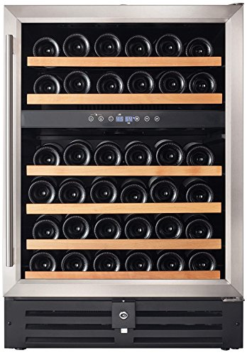 Smith-Hanks-RW145DR-46-Bottle-Dual-Zone-Under-Counter-Wine-Refrigerator-24-Inch-Width-Built-In-or-Free-Standing-0-0