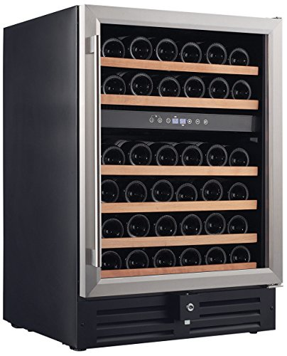 Smith-Hanks-RW145DR-46-Bottle-Dual-Zone-Under-Counter-Wine-Refrigerator-24-Inch-Width-Built-In-or-Free-Standing-0
