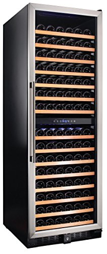 Smith-Hanks-RW428DR-166-Bottle-Dual-Zone-Wine-Refrigerator-24-Inch-Width-Built-In-or-Free-Standing-0