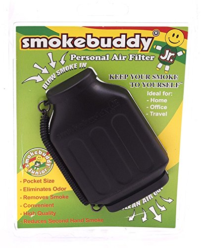 Smoke-Buddy-Junior-Black-Whole-Box-of-12-Personal-Air-Filter-Purifier-Brand-New-with-Free-Im-Baked-Bro-Doob-Tubes-Sticker-0