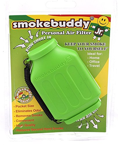 Smoke-Buddy-Junior-Lime-Green-Whole-Box-of-12-Personal-Air-Filter-Purifier-Brand-New-with-Free-Im-Baked-Bro-Doob-Tubes-Sticker-0