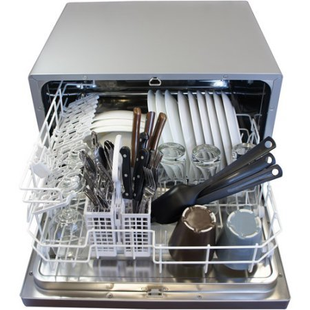 Sunpentown-SD-2202S-6-Wash-Cycles-Up-to-8-Hours-Delay-Start-Countertop-Dishwasher-Delay-Start-Silver-Color-0-0