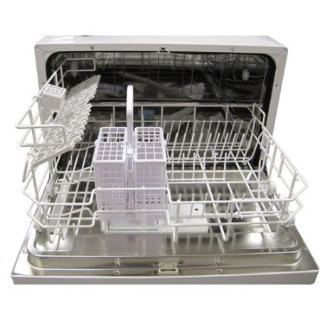 Sunpentown-SD-2202S-6-Wash-Cycles-Up-to-8-Hours-Delay-Start-Countertop-Dishwasher-Delay-Start-Silver-Color-0-1