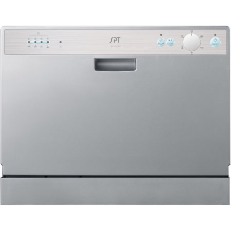 Sunpentown-SD-2202S-6-Wash-Cycles-Up-to-8-Hours-Delay-Start-Countertop-Dishwasher-Delay-Start-Silver-Color-0