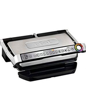 T fal grill with ceramic plates & recipe book black