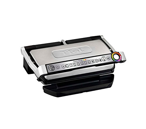 T-fal-GC722D53-1800W-OptiGrill-XL-Stainless-Steel-Large-Indoor-Electric-Grill-with-Removable-and-Dishwasher-Safe-Plates-Silver-0