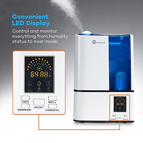 TaoTronics-Cool-Mist-Humidifier-with-No-Noise-LED-Display-Ultrasonic-Humidifiers-for-Home-Bedroom-4L11-Gallon-Capacity-Adjustable-Mist-Levels-Timer-Waterless-Auto-Shut-off-US-110V-0-0