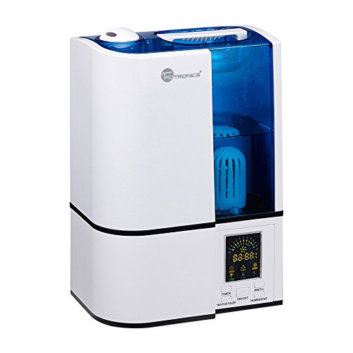 TaoTronics-Cool-Mist-Humidifier-with-No-Noise-LED-Display-Ultrasonic-Humidifiers-for-Home-Bedroom-4L11-Gallon-Capacity-Adjustable-Mist-Levels-Timer-Waterless-Auto-Shut-off-US-110V-0
