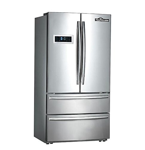Thorkitchen-HRF3601F-Cabinet-Depth-French-Door-Refrigerator-Ice-Maker-36-Stainless-Steel-0
