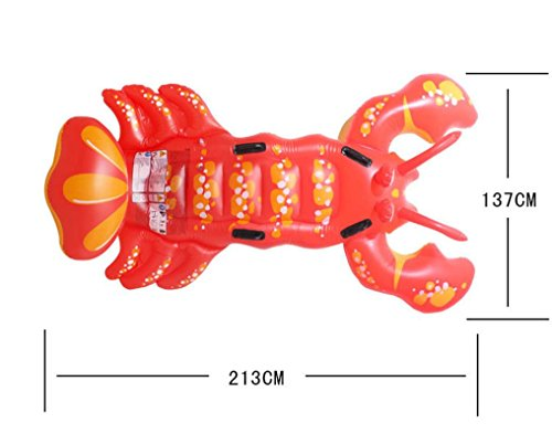 Transer-Inflatable-Lobster-Floating-Mat-Swimming-Pool-Float-Water-Raft-Swim-Ring-Lounge-Fun-Toy-213-x-137cm-0-1
