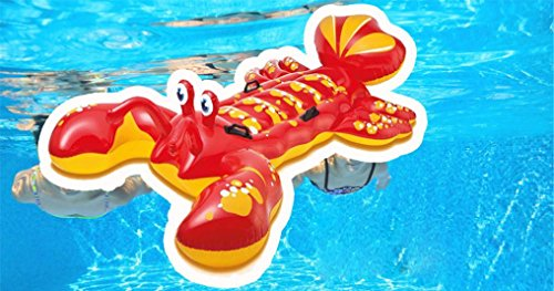 Transer-Inflatable-Lobster-Floating-Mat-Swimming-Pool-Float-Water-Raft-Swim-Ring-Lounge-Fun-Toy-213-x-137cm-0-2