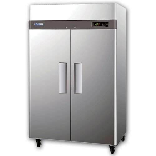 Turbo-Air-M3F472-47-cuft-M3-Series-Freezer-with-2-Solid-Doors-Digital-Temperature-Control-System-Hot-Gas-Condensate-System-Efficient-Refrigeration-System-and-Stainless-Steel-Cabinet-0