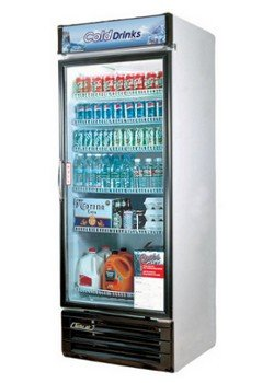 Turbo-Air-TGM22RV-22-cu-ft-Glass-Door-Merchandiser-Refrigerator-with-Energy-Conserving-Fan-Control-Double-Pane-Glass-Doors-High-Density-PU-Insulation-and-Adjustable-Shelves-0