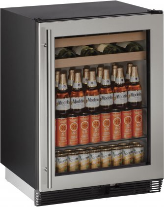 U-Line-U1024BEVS00B-54-cu-ft-Capacity-24-1000-Series-Freestanding-or-Built-In-Full-Size-Beverage-Center-in-Stainless-Steel-0