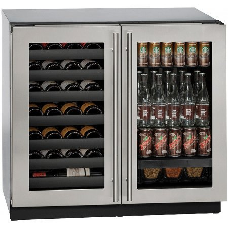 U-Line-U3036BVWCS00B-36-Built-in-Beverage-Center-and-Wine-Storage-Stainless-Steel-0