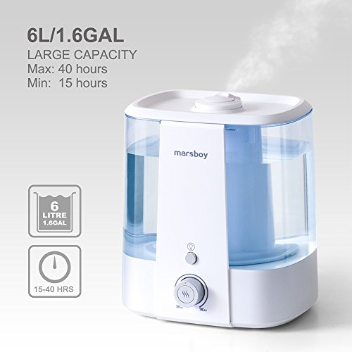 Ultrasonic-Cool-and-Warm-Mist-Humidifiers-marsboy-6L-16-GAL-Anti-Mold-Aroma-Diffuser-Air-Diffuser-Topside-Water-Refill-Super-Quiet-Operation-Ambient-Night-Light-Easy-Cleaning-for-Baby-Adults-0-1