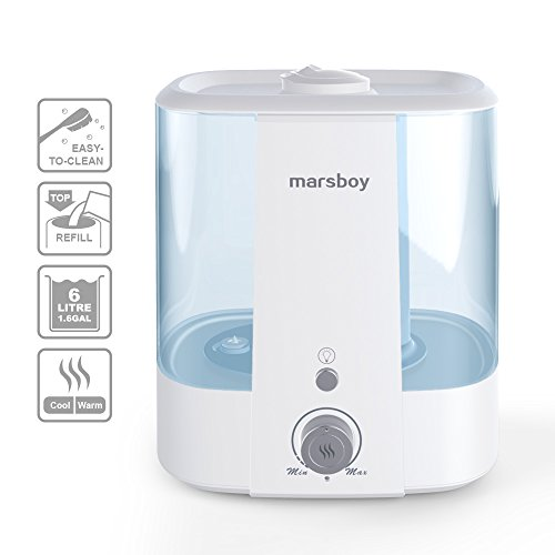Ultrasonic-Cool-and-Warm-Mist-Humidifiers-marsboy-6L-16-GAL-Anti-Mold-Aroma-Diffuser-Air-Diffuser-Topside-Water-Refill-Super-Quiet-Operation-Ambient-Night-Light-Easy-Cleaning-for-Baby-Adults-0