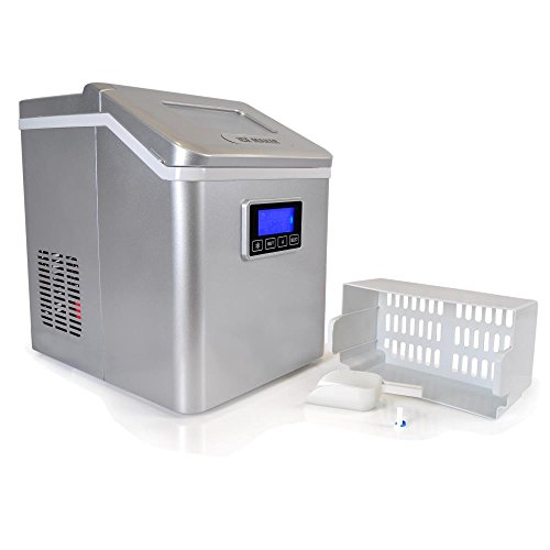 Upgraded-NutriChef-Portable-Digital-Ice-Maker-Machine-Stain-Resistant-Countertop-Ice-Maker-W-Built-In-Freezer-Over-Sized-Ice-Bucket-Ice-Machine-W-Easy-Touch-Buttons-Silver-0-2