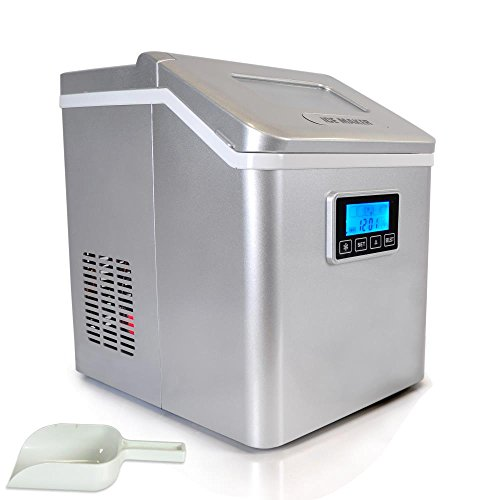 Upgraded-NutriChef-Portable-Digital-Ice-Maker-Machine-Stain-Resistant-Countertop-Ice-Maker-W-Built-In-Freezer-Over-Sized-Ice-Bucket-Ice-Machine-W-Easy-Touch-Buttons-Silver-0