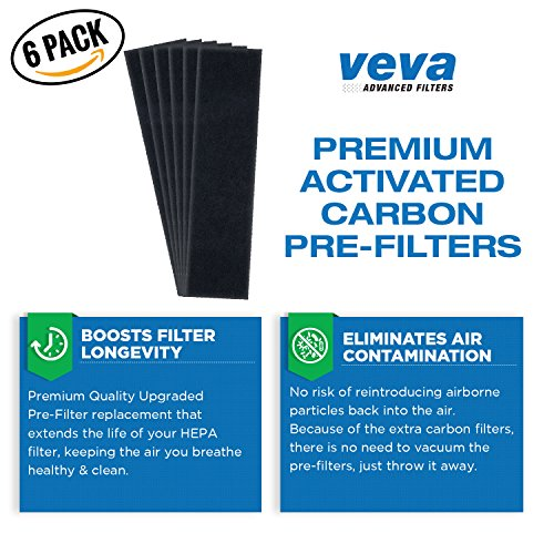 VEVA-Premium-True-HEPA-Replacement-Filter-2-Pack-Including-6-Carbon-Pre-Filters-compatible-with-Air-Purifier-AC5000-Series-and-Filter-C-0-2