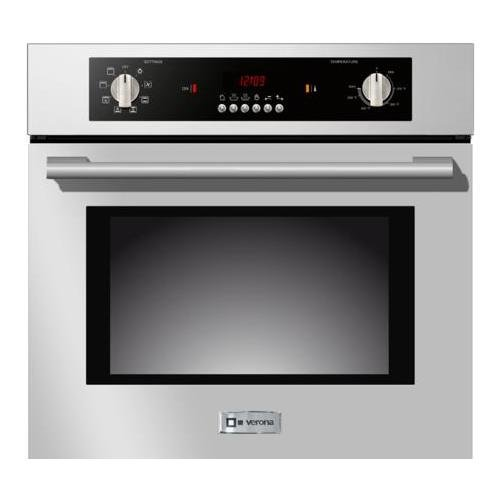 Verona-VEBIEM241SS-24-Electric-110-Volts-Wall-Oven-With-20-cu-ft-Oven-Capacity-8-Cooking-Functions-Electronic-Controls-3-Pane-Heat-Resistant-Glass-Door-and-a-Heavy-Duty-Oven-Rack-With-4-Positions-in-S-0-0