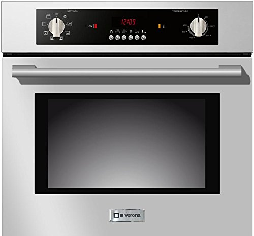 Verona-VEBIEM241SS-24-Electric-110-Volts-Wall-Oven-With-20-cu-ft-Oven-Capacity-8-Cooking-Functions-Electronic-Controls-3-Pane-Heat-Resistant-Glass-Door-and-a-Heavy-Duty-Oven-Rack-With-4-Positions-in-S-0