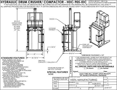 Vestil-HDC-905-IDC230V-Hydraulic-Drum-CrusherCompactor-3819-Length-230V-0-0