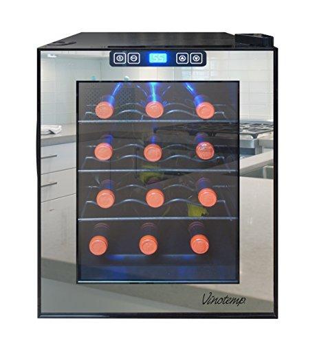 Vinotemp-VNTVT-28TSBM-28-Bottle-Mirrored-Thermoelectric-Wine-Cooler-0-0