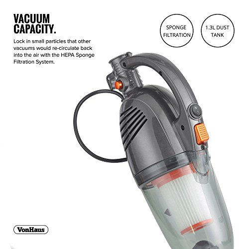 VonHaus-600W-2-in-1-Corded-Upright-Stick-Handheld-Vacuum-Cleaner-with-HEPA-Filtration-Includes-Crevice-Tool-Brush-Accessories-0-1