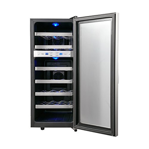 Whynter-WC-211DA-21-Bottle-Dual-Temperature-Zone-Freestanding-Wine-Cooler-Black-0-1