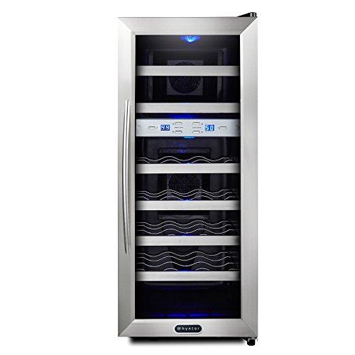 Whynter-WC-211DA-21-Bottle-Dual-Temperature-Zone-Freestanding-Wine-Cooler-Black-0-2