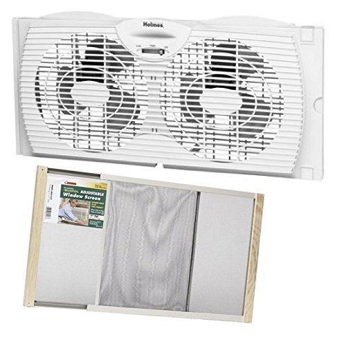 Window-Fan-Holmes-with-Frost-King-Window-Adjustable-Screen-Wood-Frame-15-x-37-0